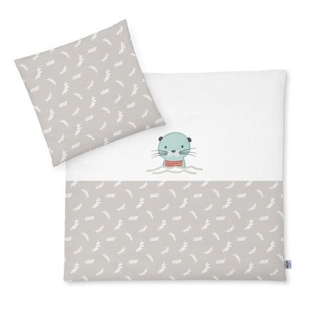 JULIUS ZÖLLNER Sängkläder med applikation Organic Ottmar 80 x 80 cm