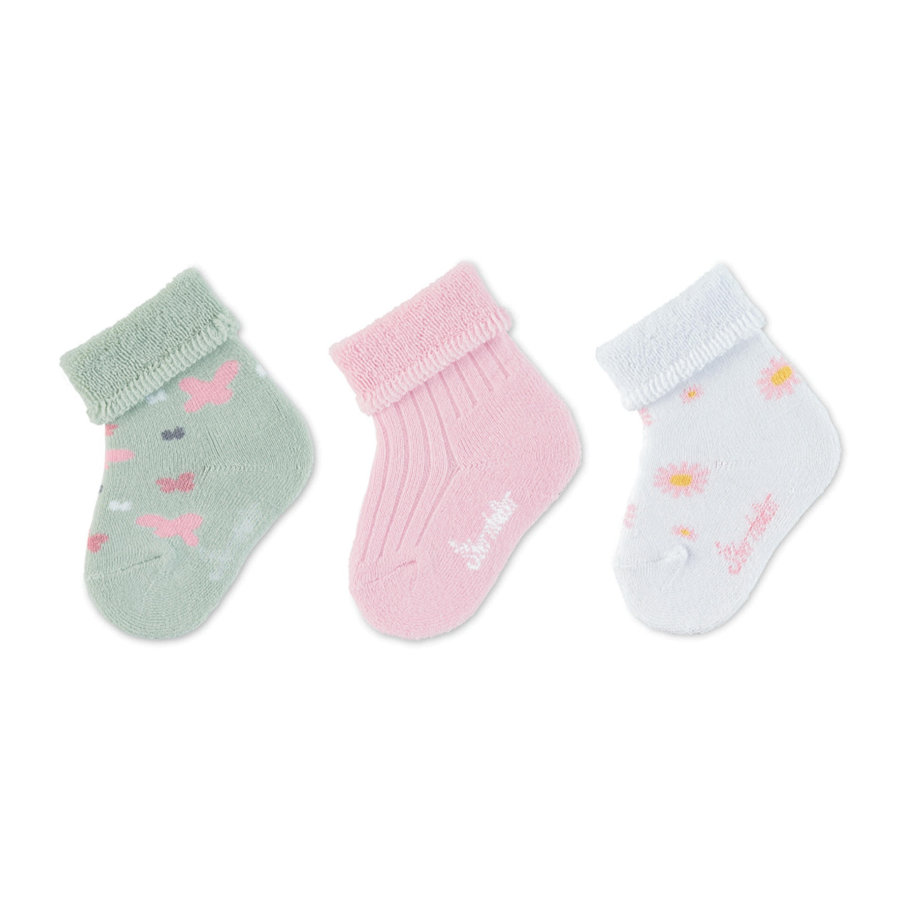 Sterntaler  Baby-Söckchen 3er-Pack Schmetterlinge rosa