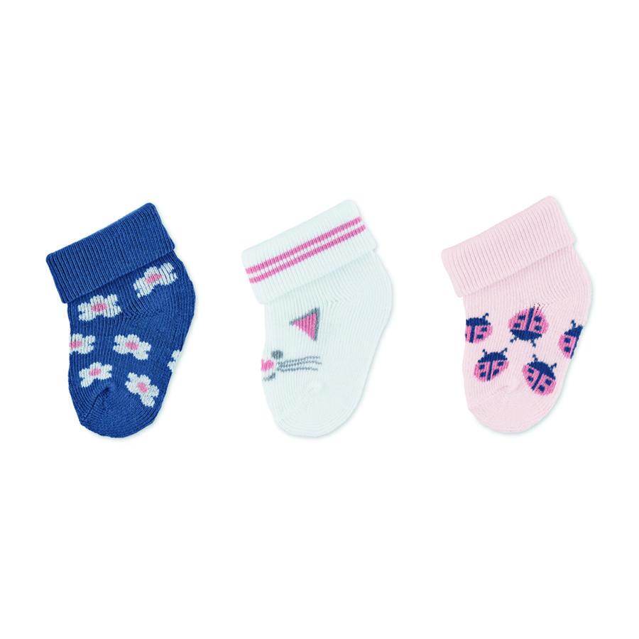 Sterntaler eerste sokken 3-pack kat roze