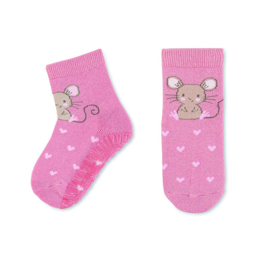 Sterntaler strømper Air mouse pink