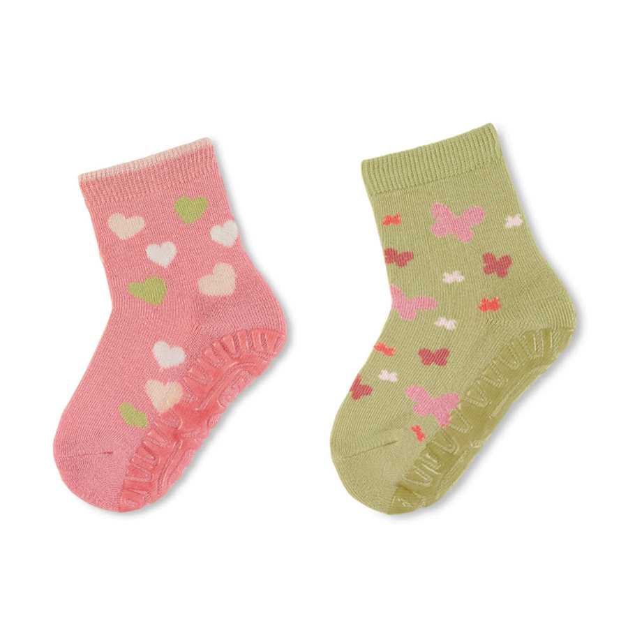 Sterntaler Sokker Air Twin Pack Hearts / Butterfly pink