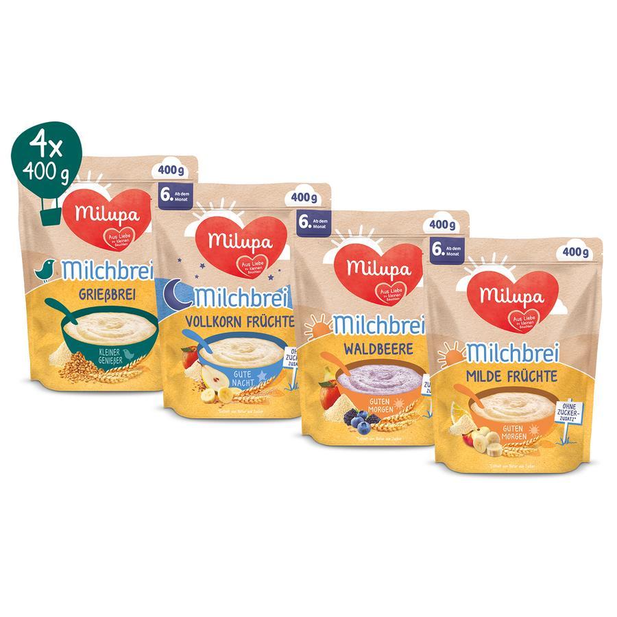 Milupa Online Exklusiver Milchbrei Mix-Pack 4 x 400 g ab dem 6. Monat, limitierte Auflage