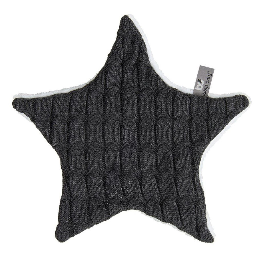 baby's only Cuddle cloth star Cable anthracite