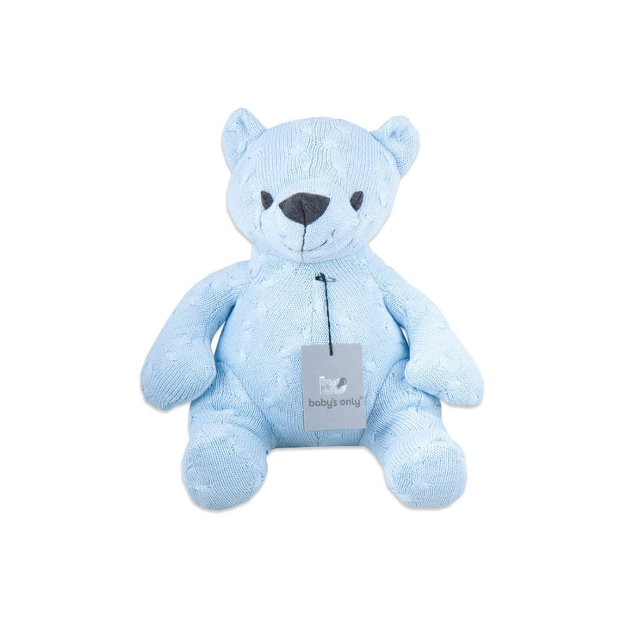 baby's only Knuffelbeer Kabel baby blauw, 35 cm