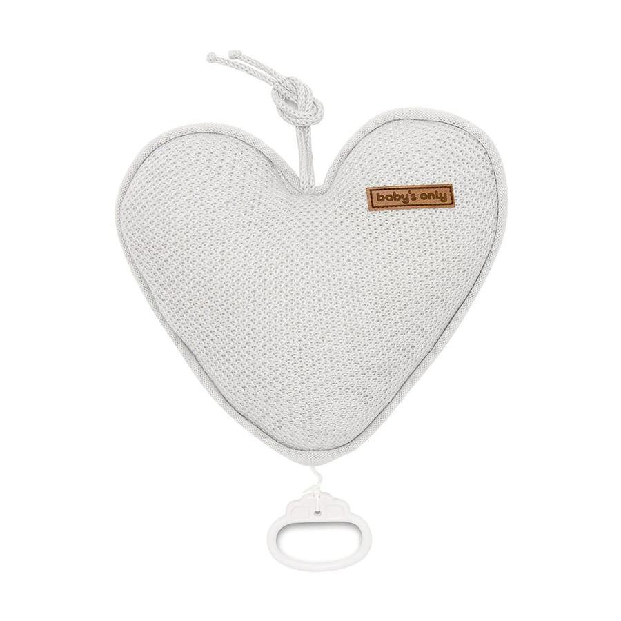 baby's only Music box srdce Class ic stříbrno-šedá