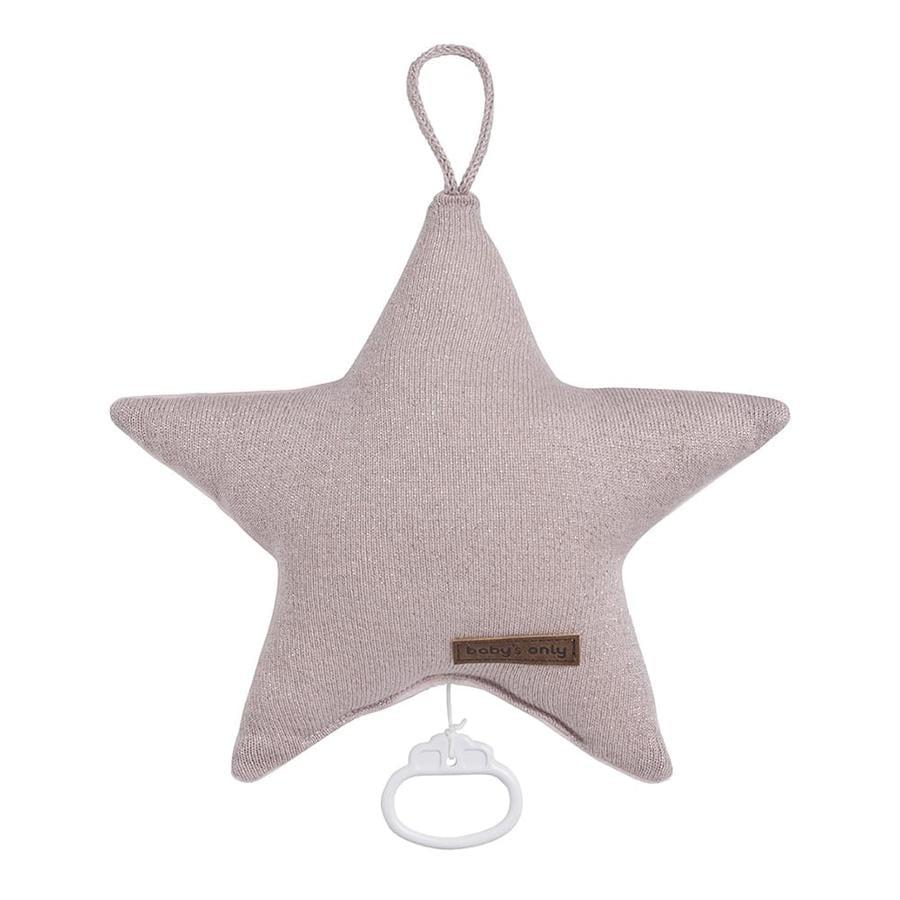baby's only Spieluhr Stern Sparkle silber-rosa melee