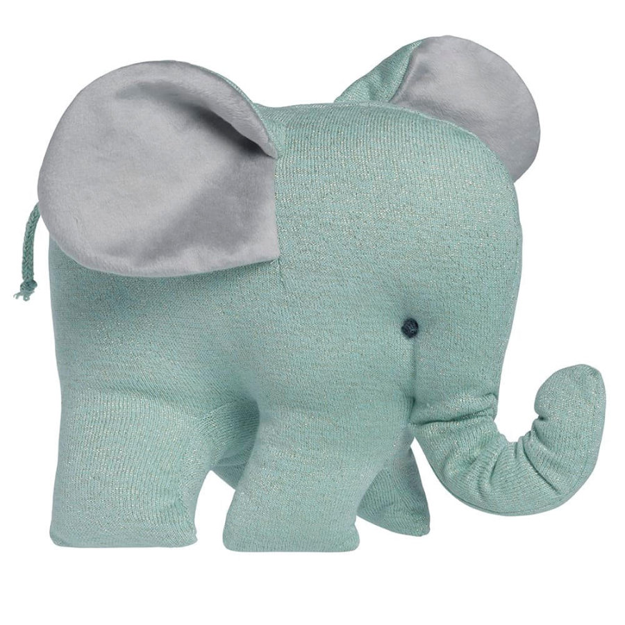 baby's only knuffel olifant Sparkle goud-mint melee