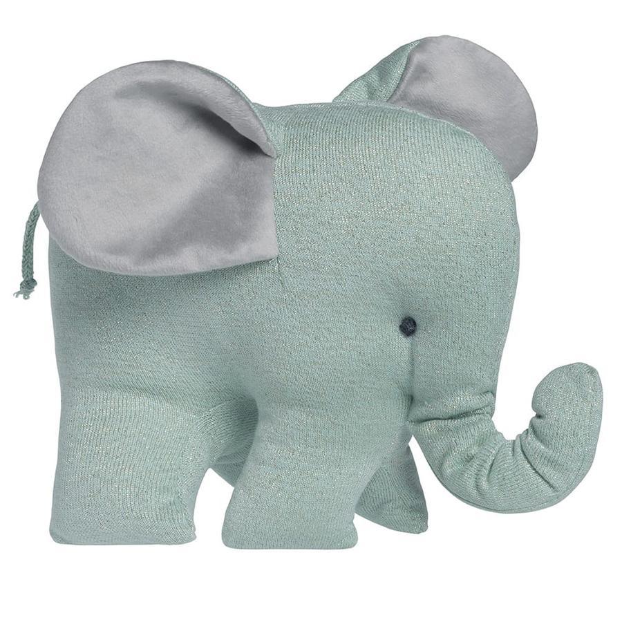 baby's only Peluche éléphant Sparkle mélange doré menthe
