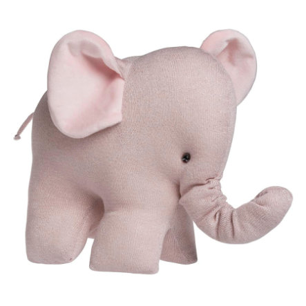 baby's only knuffel olifant Sparkle zilver-roze melee