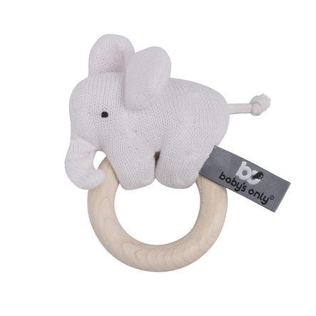baby's only Holz Rassel Elefant klassisch rosa