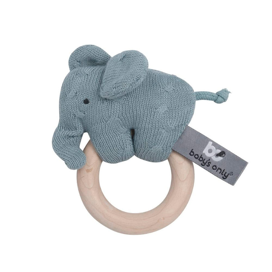 baby's only Holz Rassel Elefant stonegreen