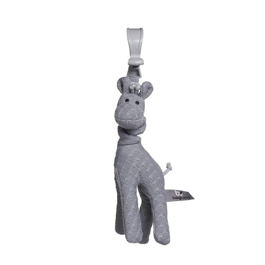 baby's only remolque para cochecito de bebé vibrador gris jirafa