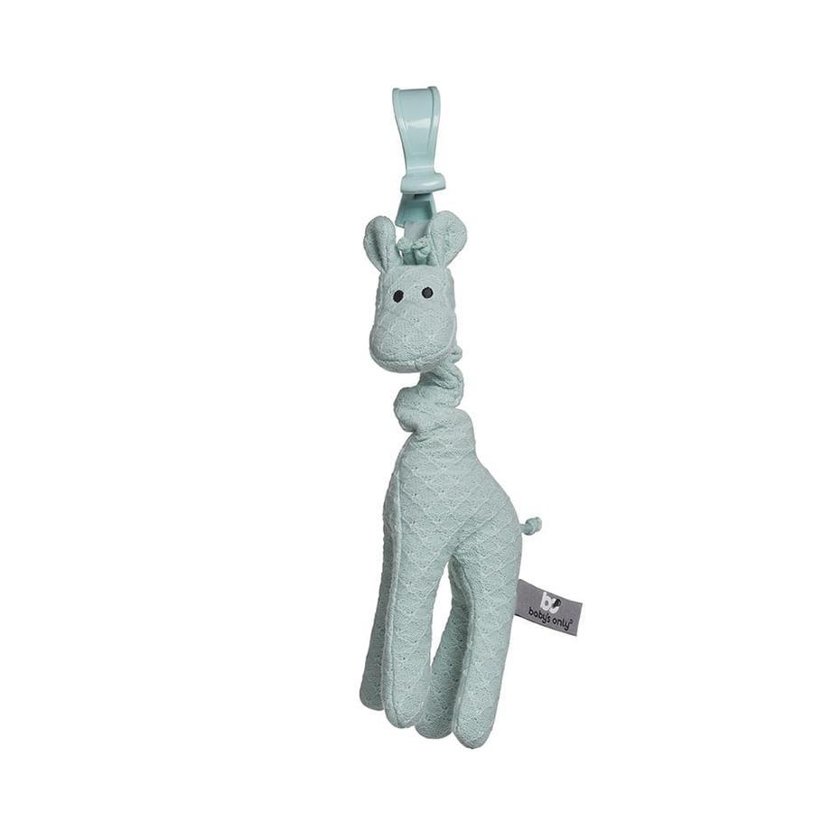 baby's only Kinderwagenanhänger vibrierende Giraffe mint