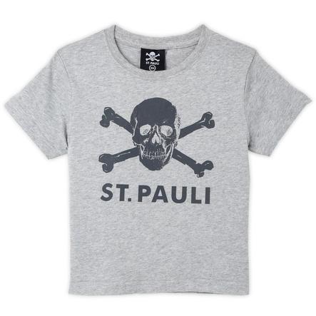 St. Pauli Kinder T-shirt Schedel grijs