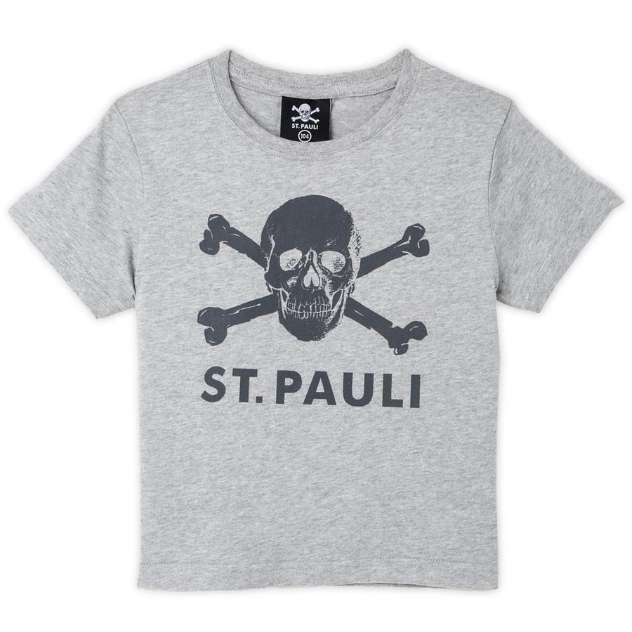 St. Pauli Kinder T-Shirt Totenkopf grau