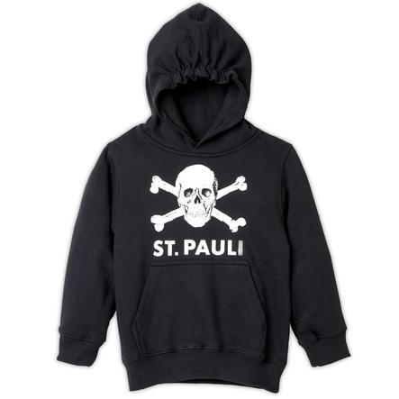 Dětská mikina s kapucí St. Pauli lebka černá