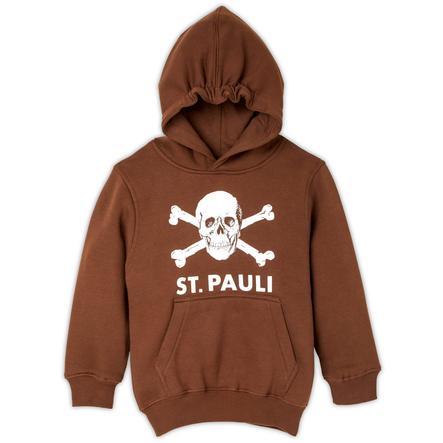 St. Pauli Kinder Kapuzenpullover Totenkopf braun
