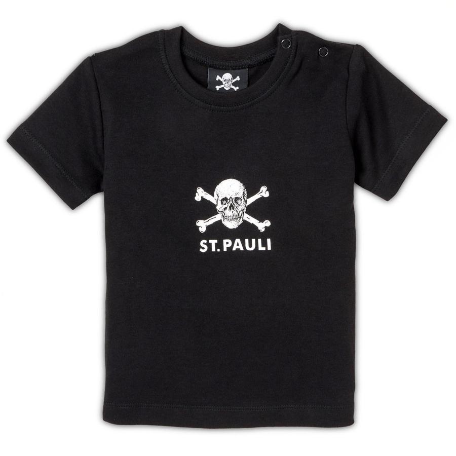 St. Pauli Baby Shirt Totenkopf schwarz