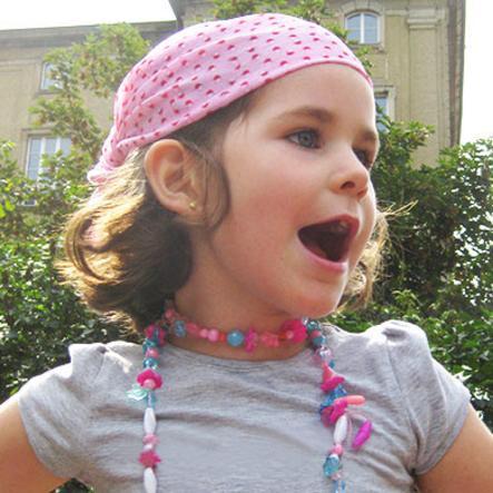 LÄSSIG Twister Kids Multifunctionele Doek Mushroom Pink