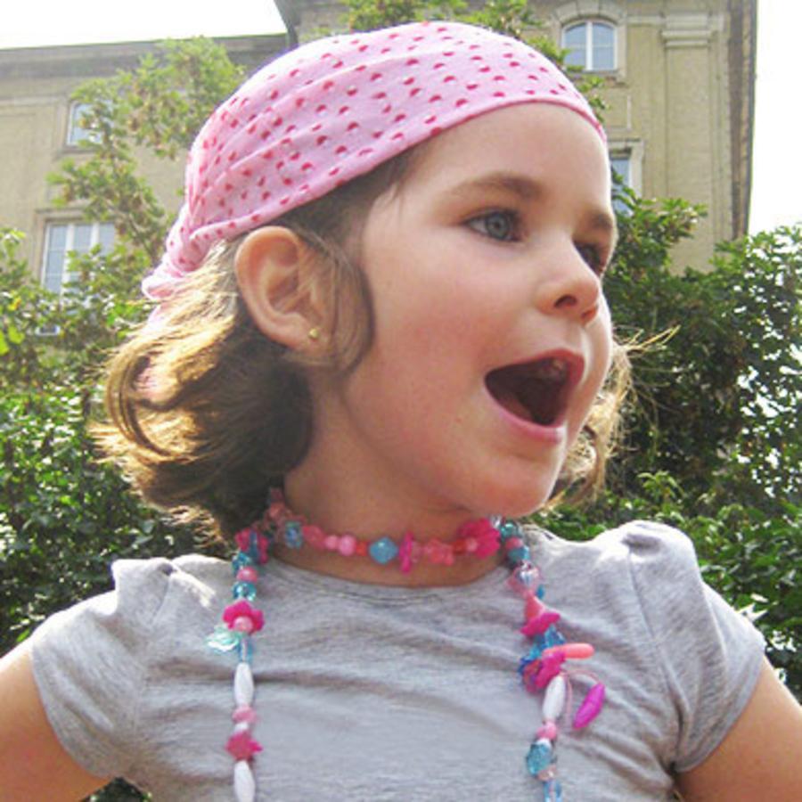 LÄSSIG Foulard multiusage Enfants Twister Mushroom Pink