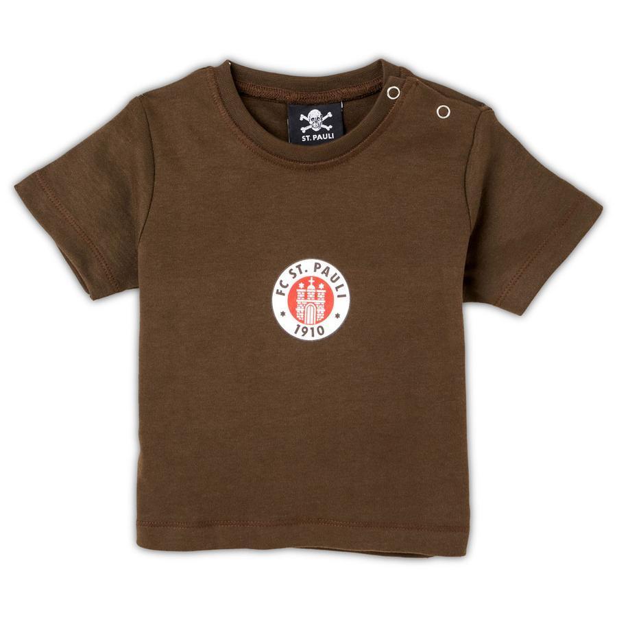 St. Pauli Baby Shirt Logo schwarz