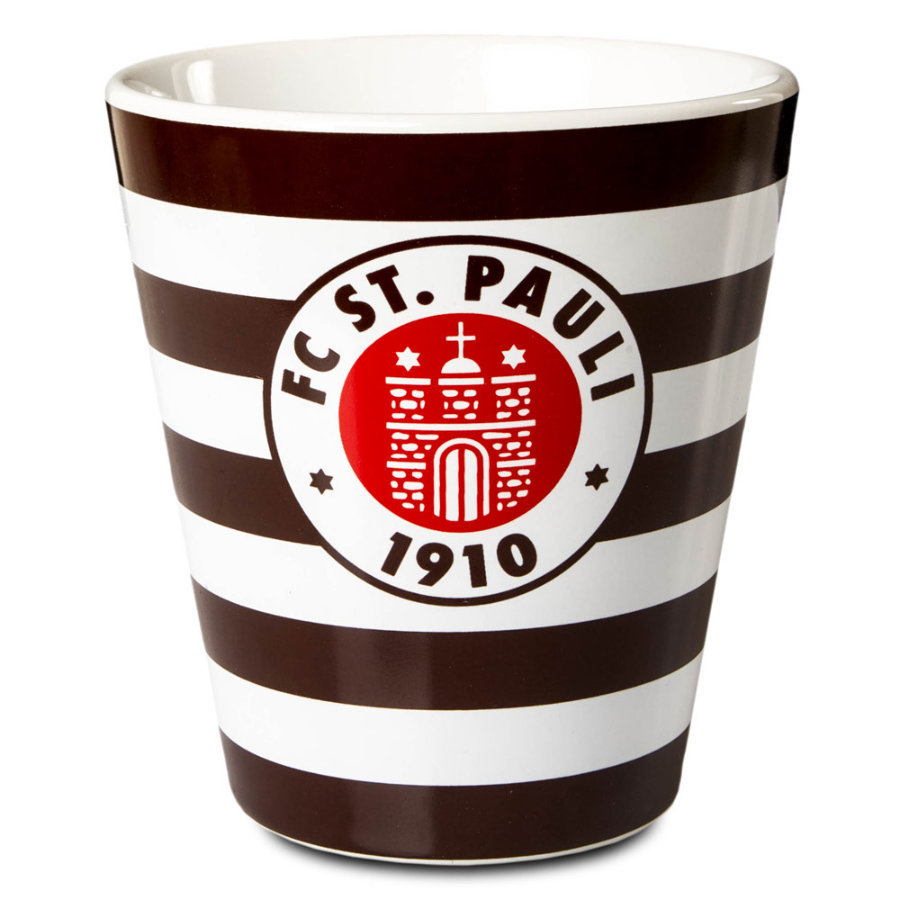 Logo du club de mugs St. Pauli marron rayé