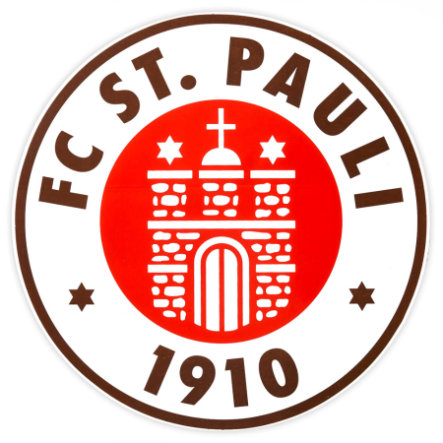 St. Pauli Sticker Stort klublogo