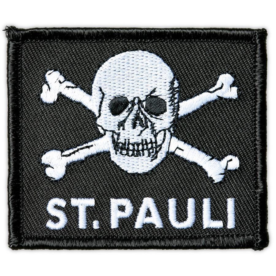 St. Pauli Aufnäher Totenkopf