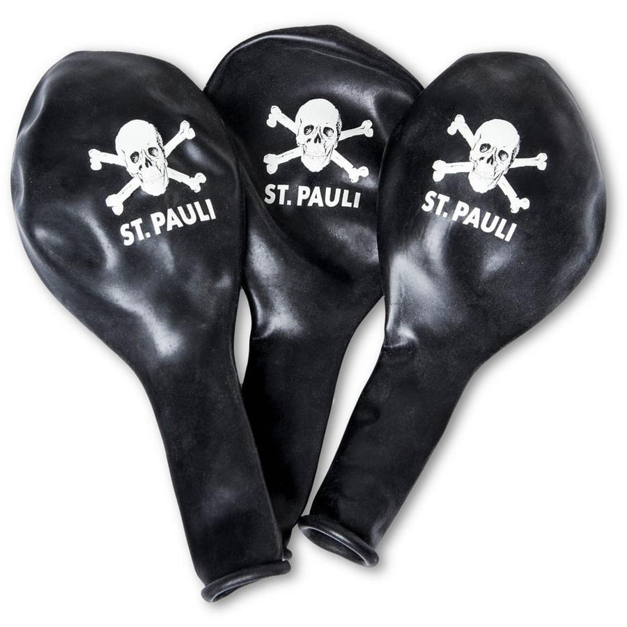 St. Pauli Ballon Schedel zwart