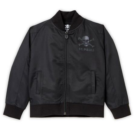 St. Pauli kids bommber jacket skull black