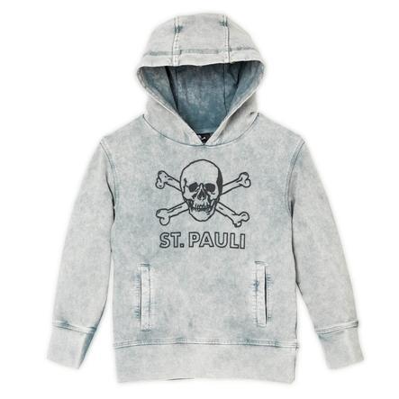 St. Pauli Kids Hoodie Anthra Skull