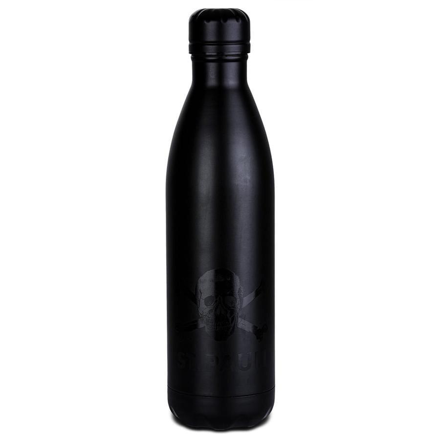 St. Pauli Trinkflasche Edelstahl schwarz