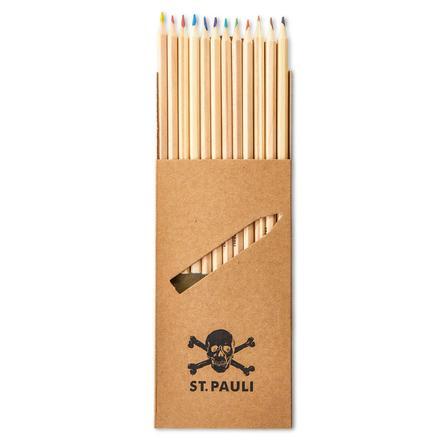 Crayons de couleur pour le cahier de notes du collège St. Pauli, lot de 12