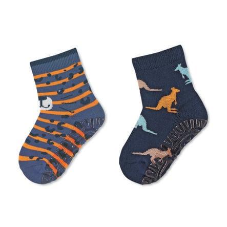 Sterntaler Fliesenflitzer Air dubbelpak luipaard/kangoeroe blauw