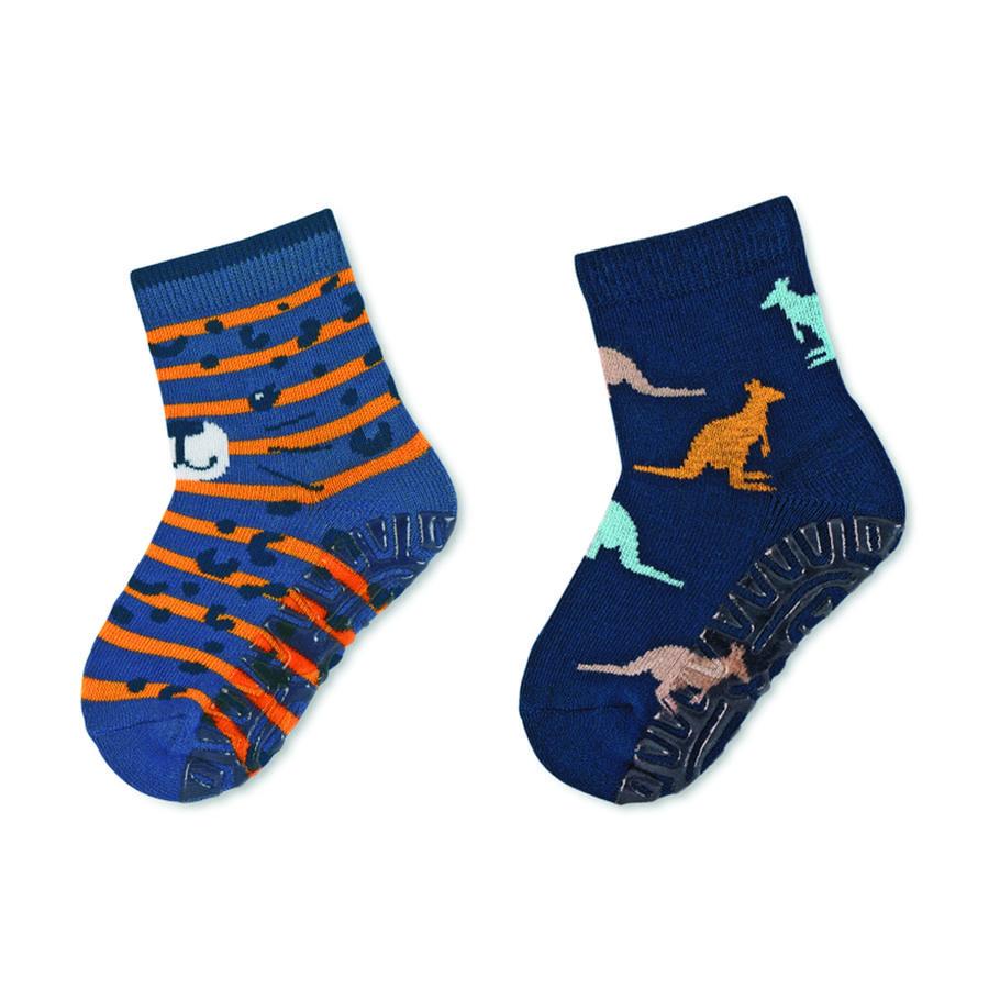 Sterntaler strømper Air dobbelt pakke leopard / kænguru blå