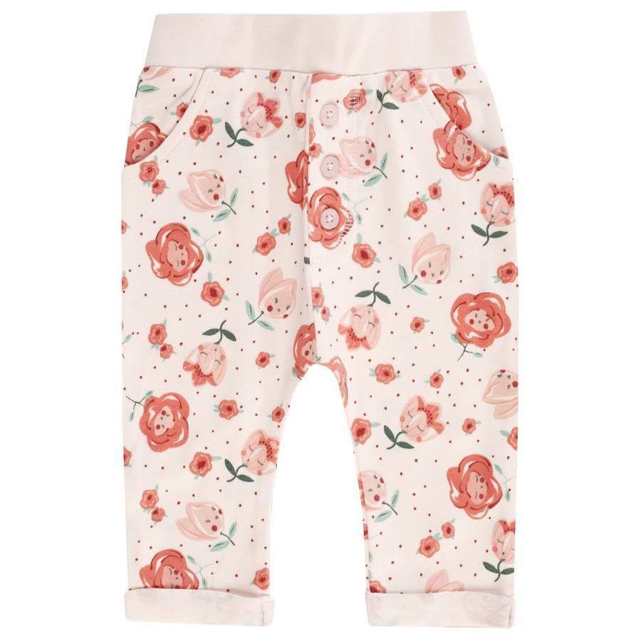 JACKY Sarouel bukser MID SOMMER off- hvit / rosa mønstret