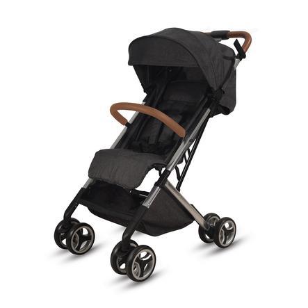 knorr-baby Cochecito deportivo S-Easy-Fold Negro-Cognac