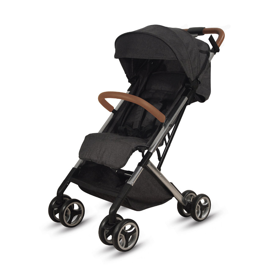 knorr-baby Passeggino sportivo S-Easy-Fold nero-cognac