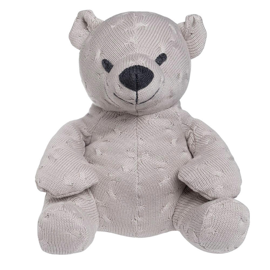 baby's only Peluche ours Cable gris argile, 35 cm
