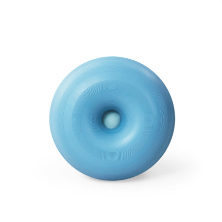 bObles® Ballon de motricité gonflable enfant donut mousse moyen bleu