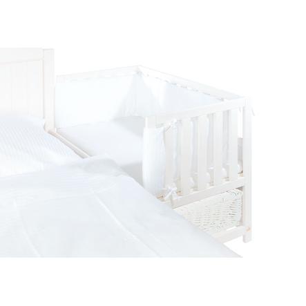 Pinolino Paracolpi per lettino co-sleeping, Voile, bianco