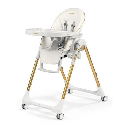 Peg Perego høy stol Prima Pappa Follow Gold (imitert skinn)