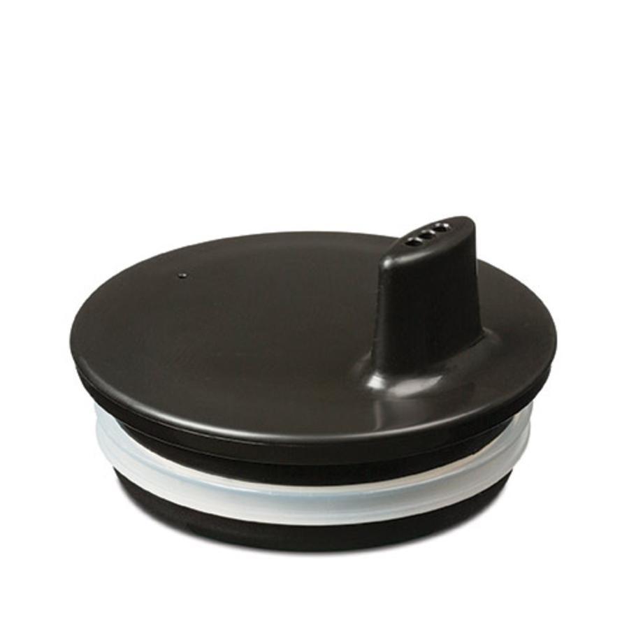 Design letters Trinkaufsatz für Melaminbecher in schwarz