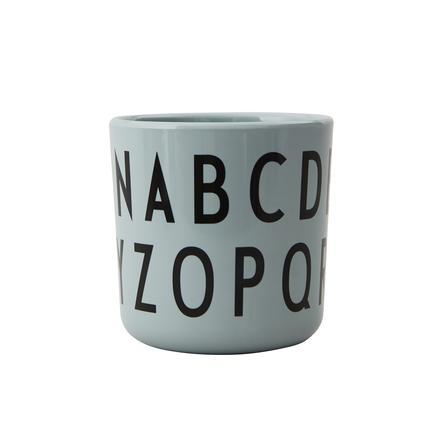 Design letters EAT & LEARN ABC melaminkopp i grönt