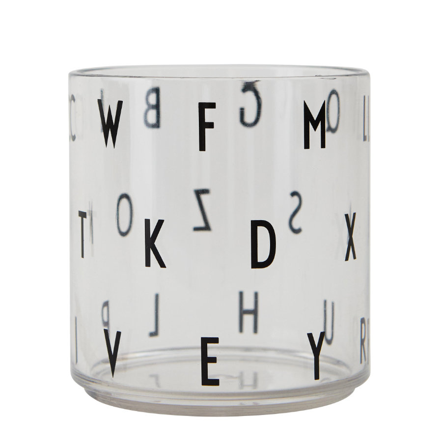 Design letters Kinderen die glazen tritan transparante letters drinken