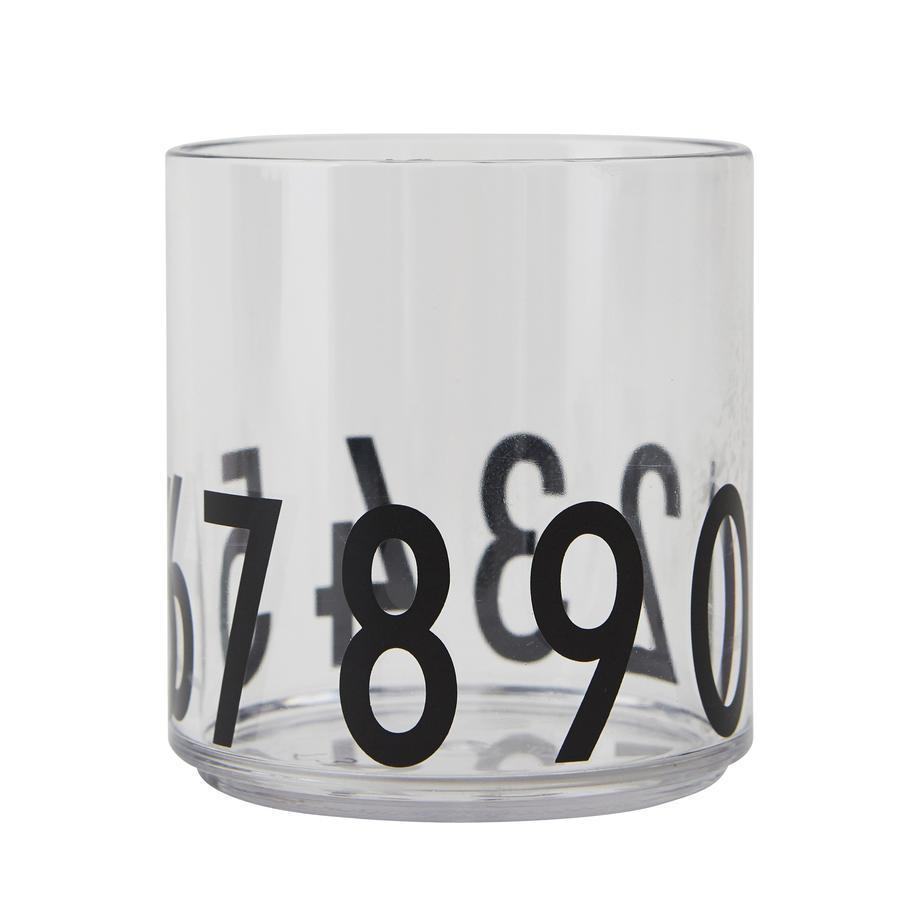 Design letters Kindertrinkglas aus Tritan transparent Zahlen
