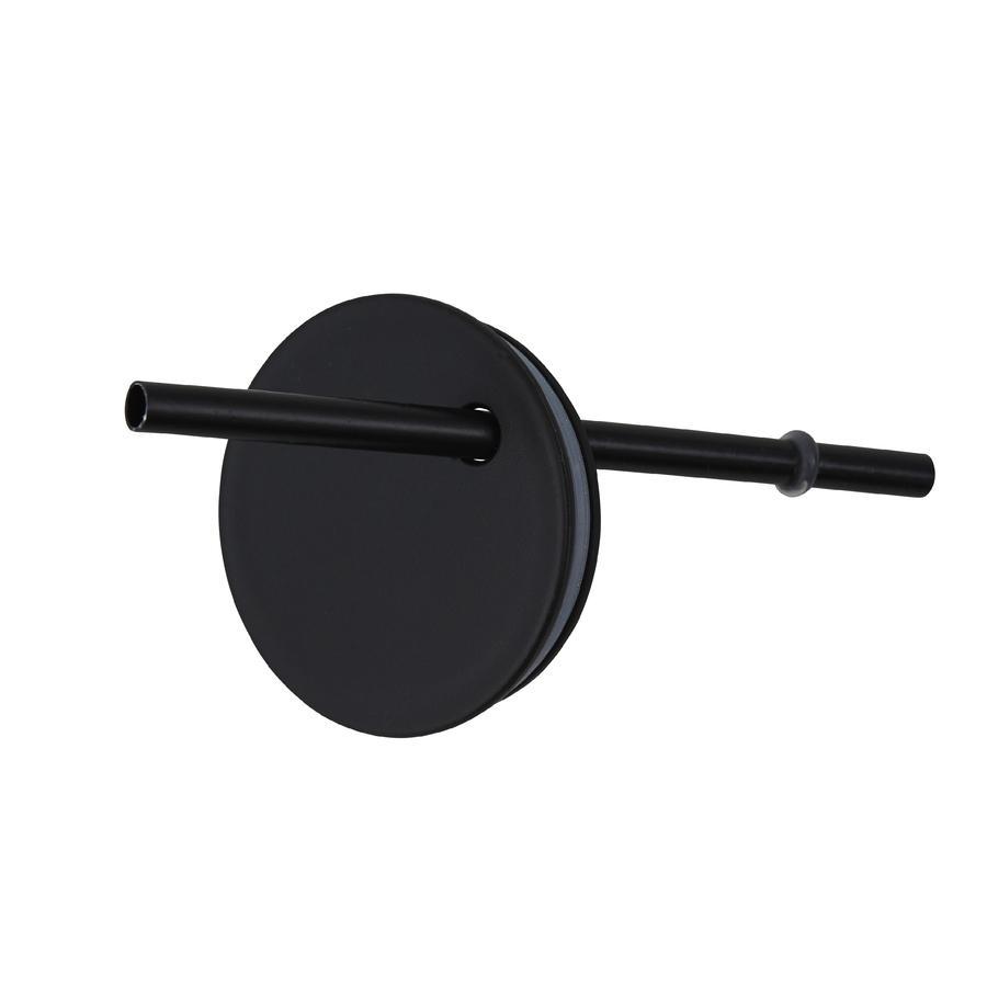 Design letters Strohhalmaufsatz für Kindertrinkglas aus Tritan in schwarz