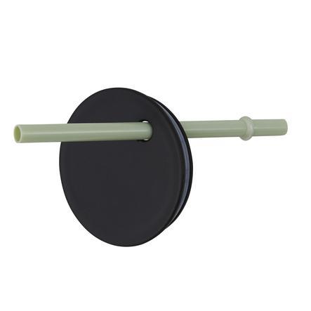 Design letters Strohhalmaufsatz für Kindertrinkglas aus Tritan in grün