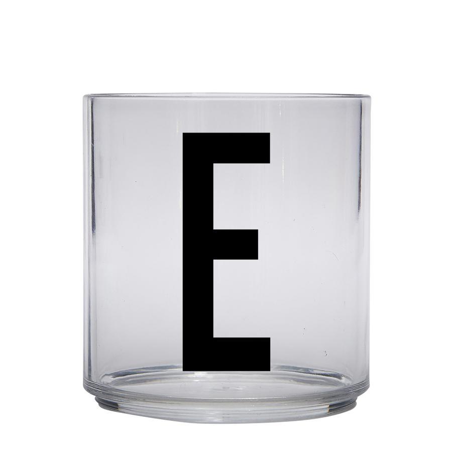 Design letters personalisiertes Trinkglas für Kinder Buchstabe E