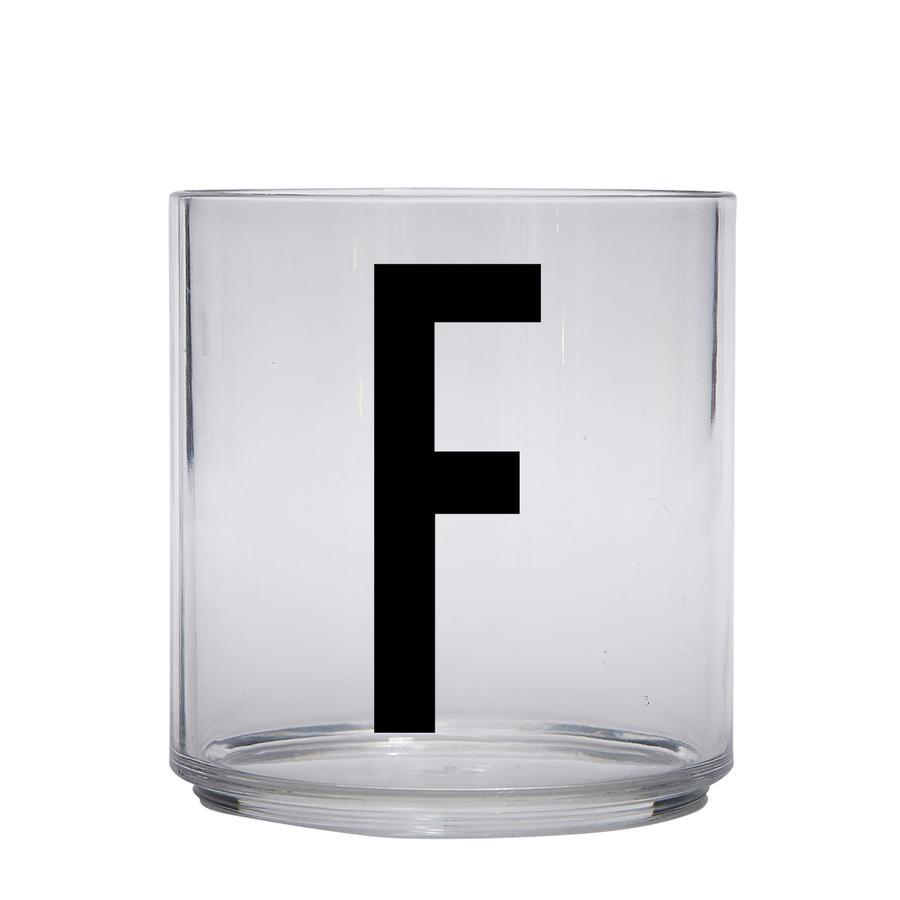 Design letters personalisiertes Trinkglas für Kinder Buchstabe F